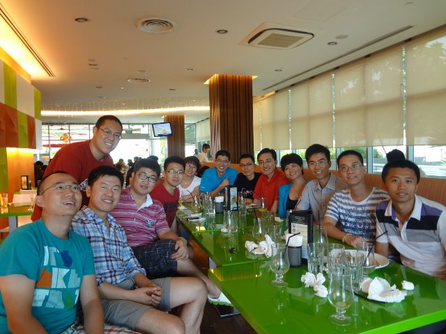 First lunch at NUSS during NUS MBA Orientation